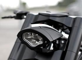 headlight 3D cobra - billet aluminum - black
