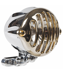 headlight alcatraz polished - brass grill