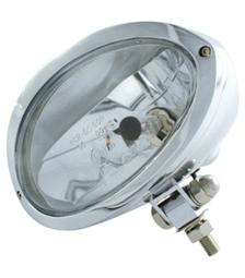 headlight cronus with mount chromed - clear headlamp