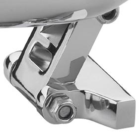 headlight mount cyclops chromed universal
