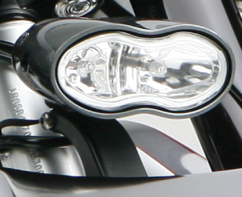 headlight mount cyclops flat black for harleys