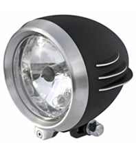 headlight unbreakable black with CNC machined details