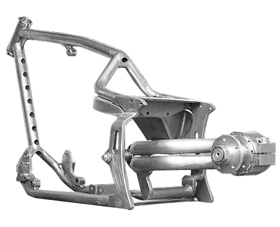 le mans frame for evo type and twin cam B type engines