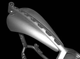 le mans frame - holes on back bone option