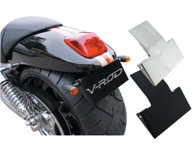 license plate bracket black for v-rods 2002-05