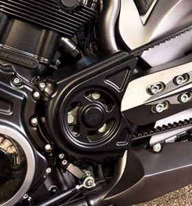 pulley cover for v-rod's, night-rod's, street-rod's, muscle's - black