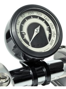 speedo housing de luxe for mini speedometers black