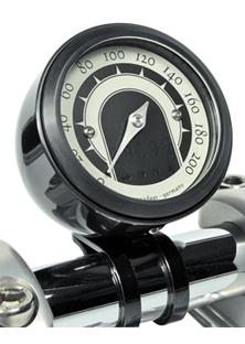 speedo housing de luxe for mini speedometers black