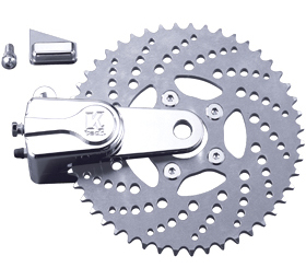 sprocket rotor kit drilled 51 tooth polished - left or right side drive