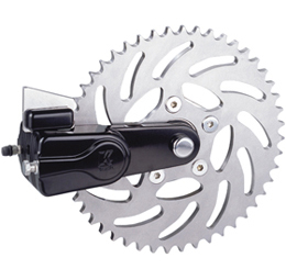 sprocket rotor kit slotted 51 tooth black - left or right side drive