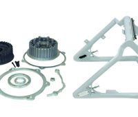 swingarm conversion kit 280300 tire on 18x10.5 rim - 1 axle - for 2007 twin cam softail with OEM brake caliper