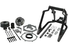 swingarm conversion kit 330 tire on 18x12 rim - 1 axle - for 2012-13 twin cam softail with OEM brake caliper