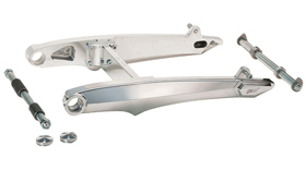 swingarm kit classic for up to 330 tires for v-rods, street-rod's, v-rod muscle's – polished