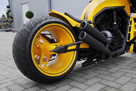 swingarm kit cut-out for up to 330 tires for v-rods, street-rod's, v-rod muscle's - black