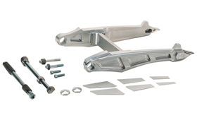 swingarm kit cut-out for up to 330 tires for v-rods, street-rod's, v-rod muscle's - polished