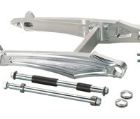 swingarm kit saber for up to 330 tires for v-rods, street-rod's, v-rod muscle's - polished