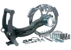 swingarm single-sided steel conversion kit 300 tire on 18x11.5 rim - 1 axle - for 1987-99 evolution softails