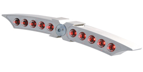 taillight x-wing LED unit chromed housing