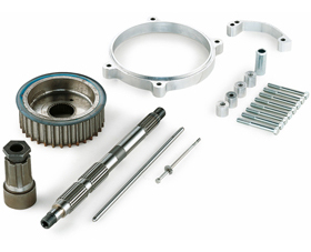 transmission offset kit for up to 300 tires - 50mm offset - for 2000-06 twin cam softail
