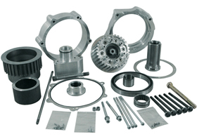 transmission offset kit for up to 330 tires - 63mm offset - for 2012-13 twin cam softail