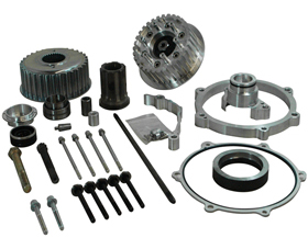 transmission offset kit for up to 330 tires - 63mm offset - for 2014-up twin cam softail
