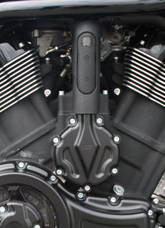 water pump cover for v-rod's, night-rod's, street-rod's, muscle's - black