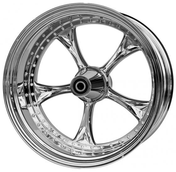 wheel 3D lowrider 23x4.5 polished - single flange
