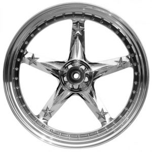 wheel 3D open mind 18x10.5 polished for v-rod - dual flange