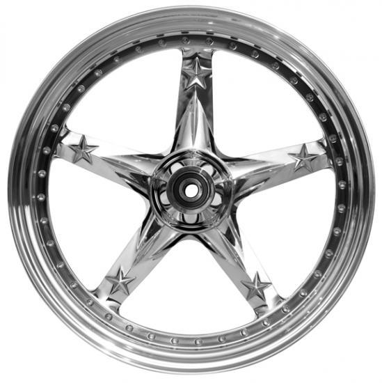 wheel 3D open mind 18x10.5 polished for v-rod - dual flange