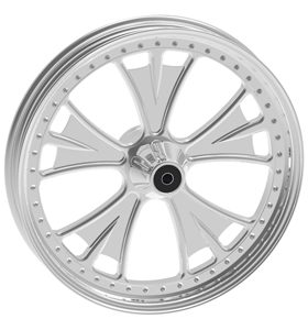 wheel bat design 17x12.5 polished for v-rod - dual flange