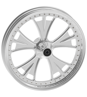 wheel bat design 18x12 polished for v-rod - dual flange
