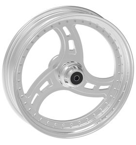 wheel cobra design 18x12 polished for v-rod - dual flange