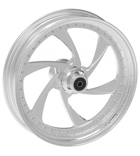 wheel cyclone design 18x10.5 polished for v-rod - dual flange
