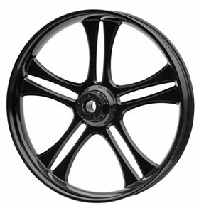 wheel daytona 26x3.75 glossy black powder coated - dual flange