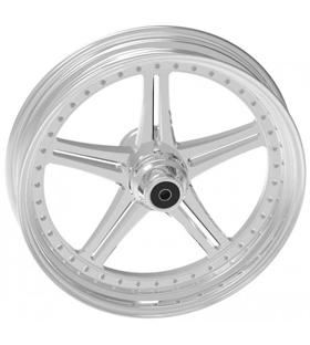 wheel magnum design 17x12.5 polished - single flange