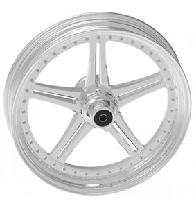 wheel magnum design 18x12 polished for v-rod - dual flange