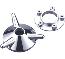 wheel spinner kit for pre-1999 hubs chromed