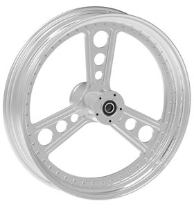 wheel titan design 17x12.5 polished for v-rod - dual flange