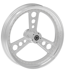 wheel titan design 17x12.5 polished for v-rod - single flange
