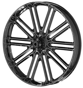 wheel unbreakable 26x3.75 glossy black powder coated - dual flange