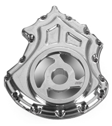 alternator cover with cut-outs for v-rod's - polished