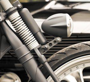bracket for alcatraz headlight on springer forks