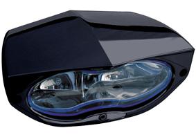 headlight 3D xtrm black with blue headlamp