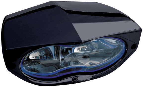 headlight 3D xtrm black with blue headlamp