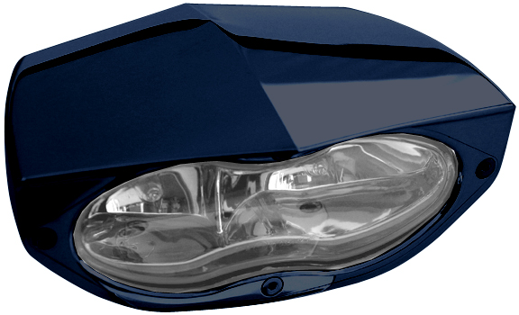 headlight 3D xtrm black with clear headlamp
