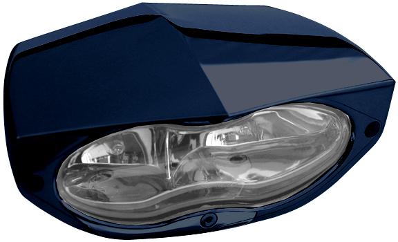 headlight 3D xtrm black with clear headlamp