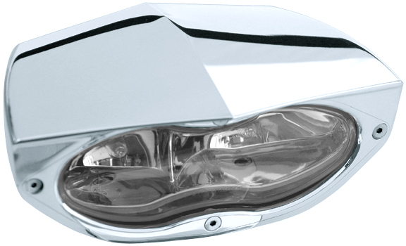 headlight 3D xtrm polished with clear headlamp