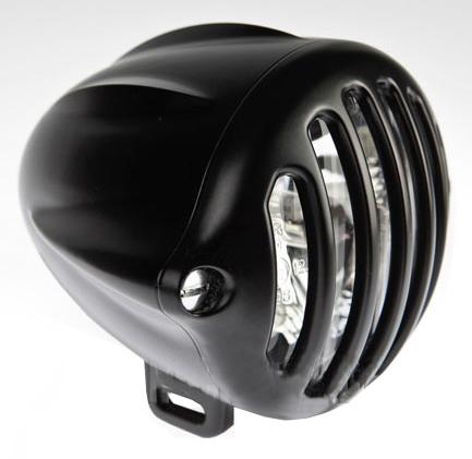 headlight alcatraz flat black - flat black grill