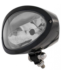 headlight cronus with mount black - clear headlamp