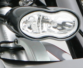 headlight mount cyclops for harleys – chromed